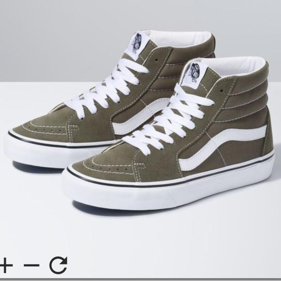 Vans Shoes | Dark Green Van High Tops